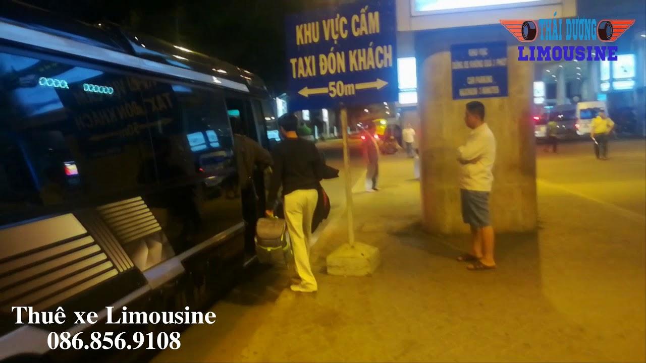 Công ty du lịch Thái Dương du thuyền trên mặt đất của Thái Dương Limousine đón khách sân bay - YouTube