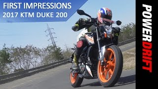 KTM Duke 200 (2017) : Review : PowerDrift