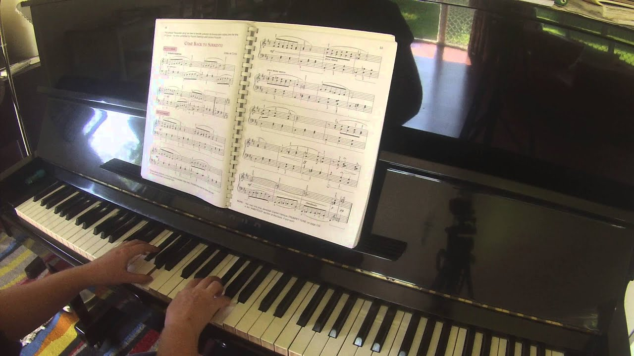 Come Back To Sorrento By Ernesto De Curtis Alfreds Basic Adult Piano Course All In One Book Level 3