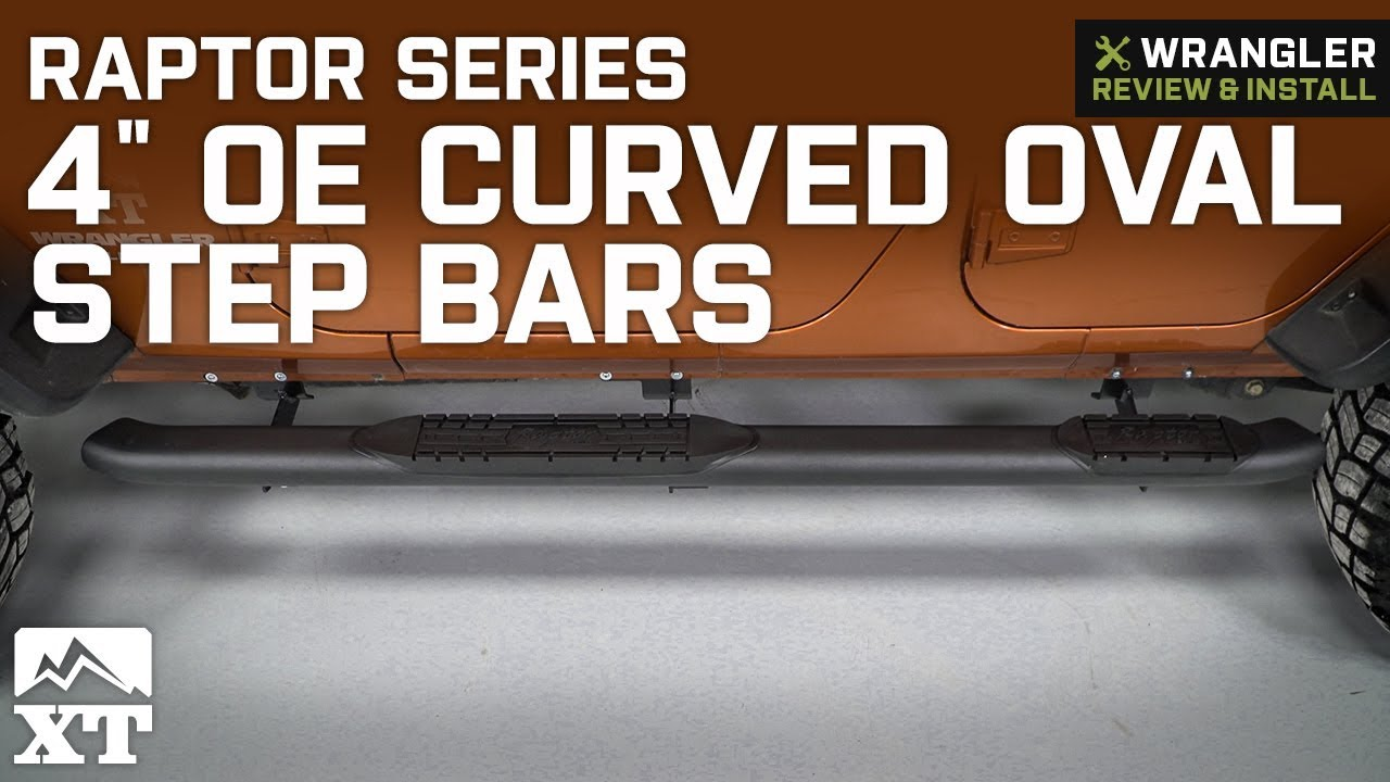 Raptor Series 1505-0428B 4 inch Curved OE Style Black Side Bar Steps For 09-13 Honda Pilot