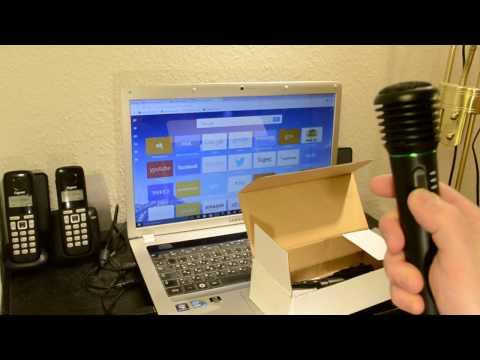 Распаковка: WM308 2 In 1 Wired Wireless Handheld Dynamic Microphone  -  BLACK
