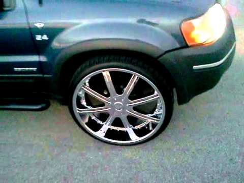 2002 Ford Explorer Xlt >> Escape on 24s - YouTube