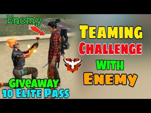 Teaming Challenge In Rank Heroic Match - Garena Free Fire || Giveaway