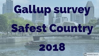 Gallup survey safest country 2018