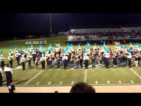 Mt Juliet Middle School Band plays at Oct 3 Football Game