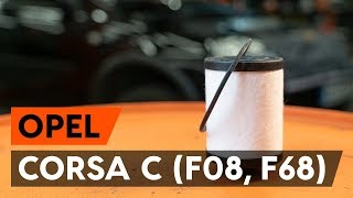 Montering Drivstoffilter bensin og diesel OPEL CORSA: videoopplæring