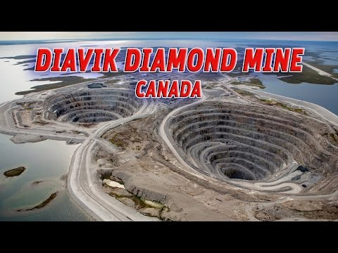 The Giant Holes:  Diavik Diamond Mine, Canada #Vendora