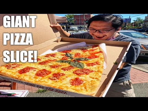 Home Of The Giant 2 Foot Slice - Pizza Barn - Pizza Mukbang!