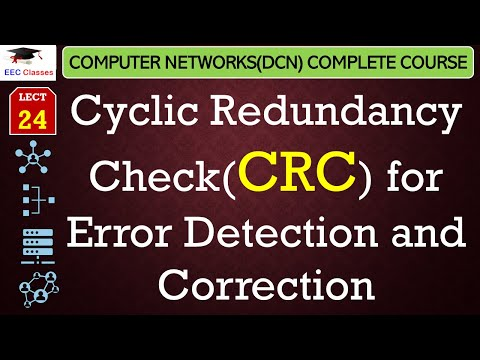 Cyclic Redundancy Check(CRC) in Hindi for Error Detection and Correction - Networking Lectures