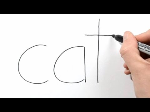 How to Turn Words Cat into a Cartoon #3