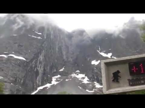 Norway. Troll Wall. Норвегия. Стена троллей.
