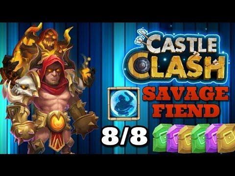 Castle Clash Grimfiend 8/8 Bulwark! SavageFiend!