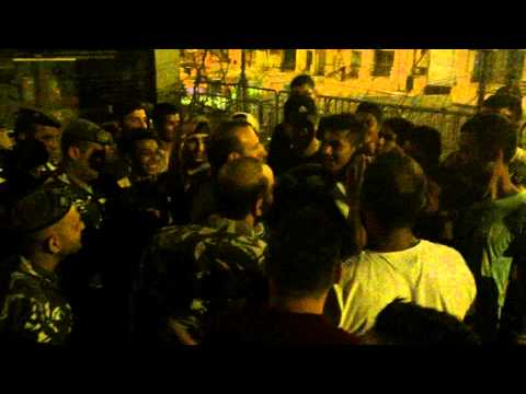 Protestors embrace security forces in Beirut (1)