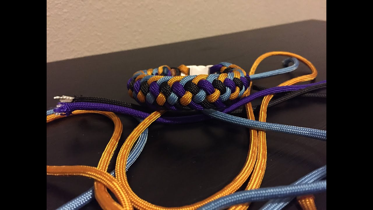 How to make modified four strand zipper sinnet paracord bracelet