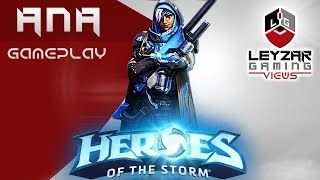 Heroes of the Storm (Gameplay) - Ana First Impressions (HotS Ana Gameplay Quick Match)