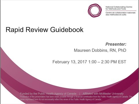 Spotlight on Methods and Tools: Rapid Review Guidebook