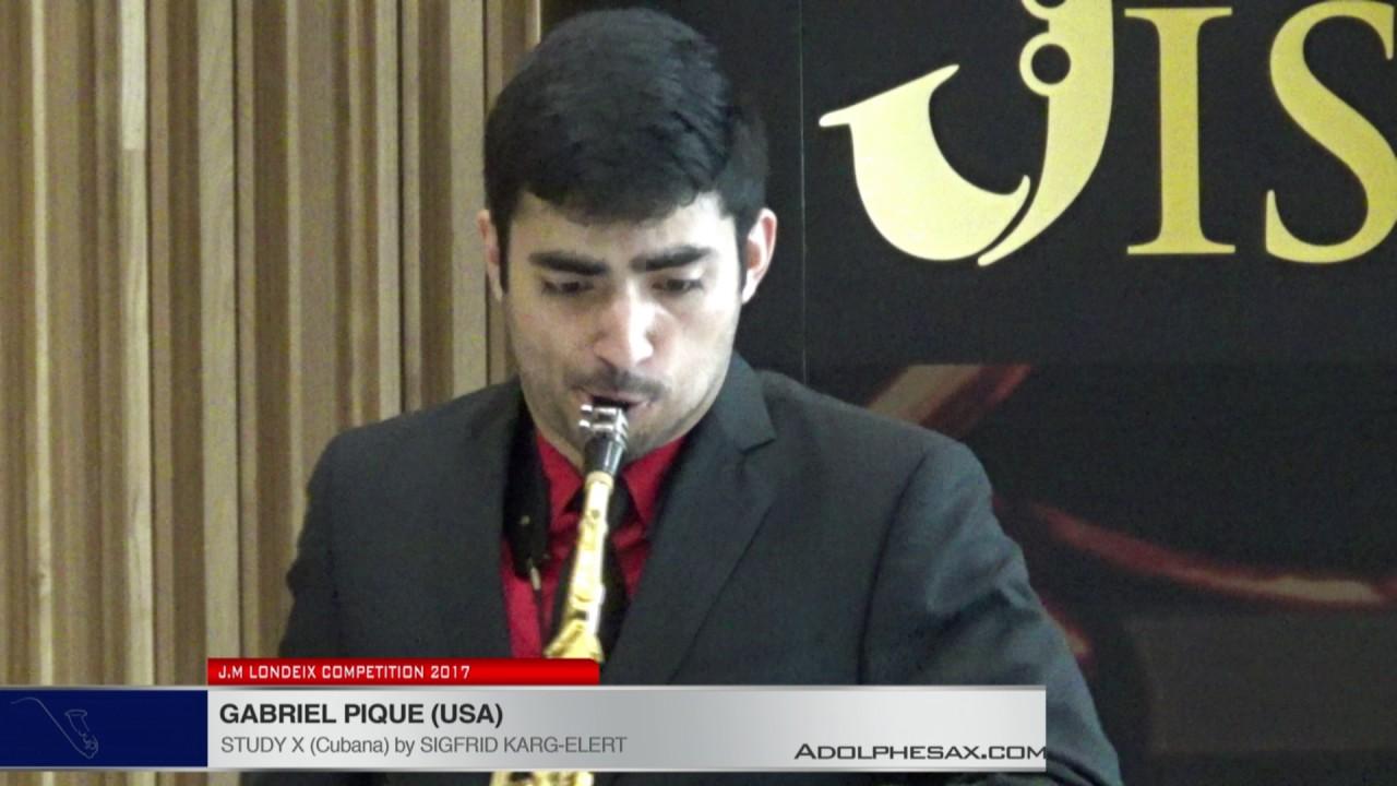 Londeix 2017 - Gabriel Pique (USA) - X Cubana by Sigfrid Karg Elert