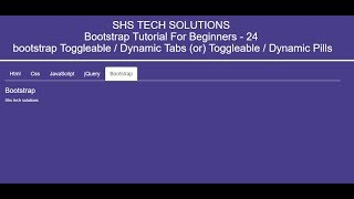 Toggleable Tabs / Dynamic Tabs In Bootstrap | Bootstrap Tutori…