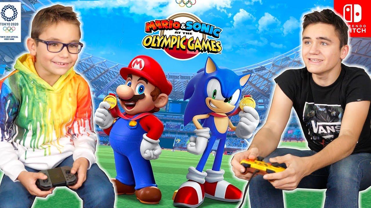 Swan Néo Testent Mario Sonic Aux Jeux Olympiques De Tokyo 2020 Nintendo Switch