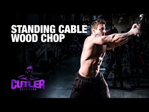 Standing Cable Woodchop Cutler Nutrition