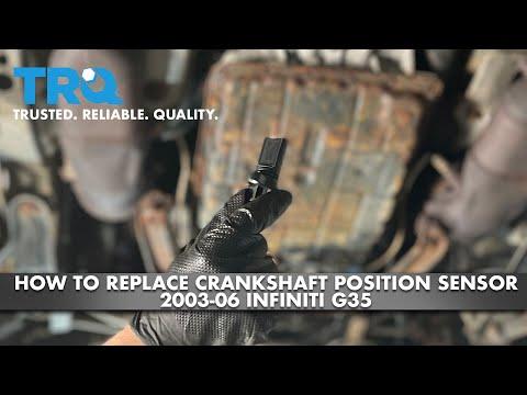 How To Replace Crankshaft Position Sensor 2003-06 Infiniti G35