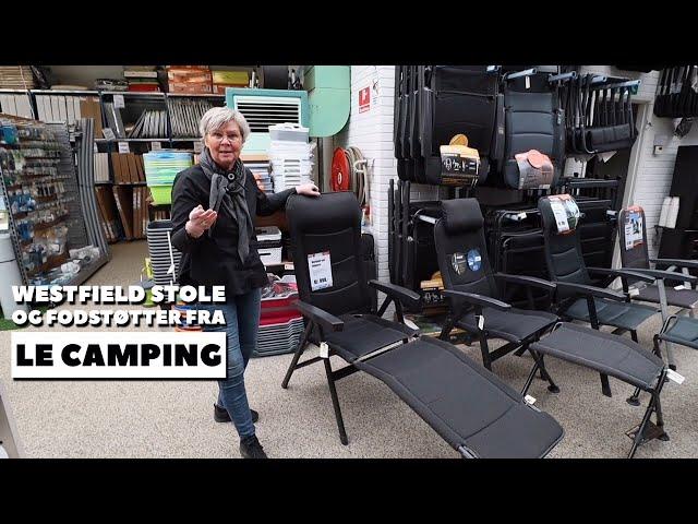 Westfield stole og fodskamler fra LE Camping (Reklame)