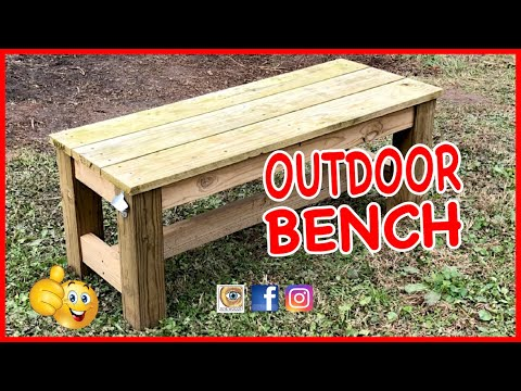 Making An Outdoor Bench With The Miter Saw, Pocket Holes, And Screws