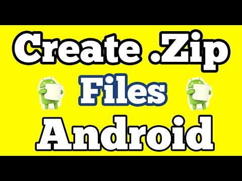 Create A  Zip Files On Android Devices  || Compress File