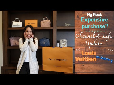 My Most Expensive Purchase | Louis Vuitton Unboxing | Channel & Life Updates