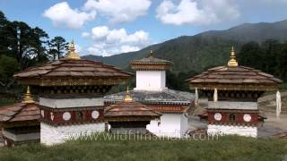 Beautiful Landscape in Dochula pass in Bhutan