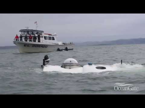 First manned submersible dive around Alcatraz Island