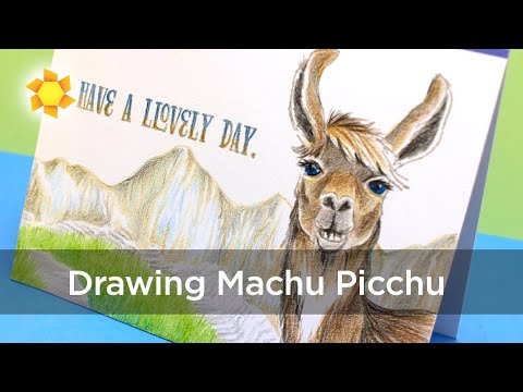 Llovely Day in Machu Picchu - coloring in pencil