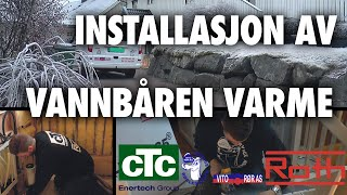 Hvordan installere vannbåren varme i gulvet - CTC Ferrofil med Roth Nordic