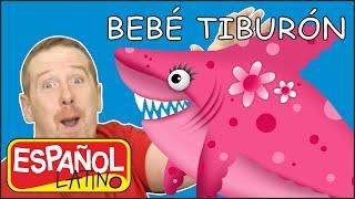 Canción del Bebé Tiburón para niños con Steve and Maggie Español Latino