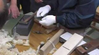 Ito San Master Japanese Carpenter Tapping Out A Kana  Blade