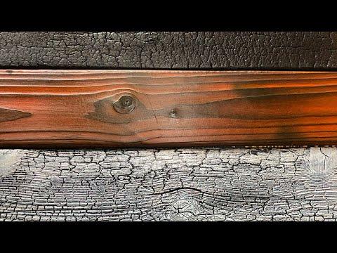 DIY Wood Burning Technique - Shou Sugi Ban Gator Finish
