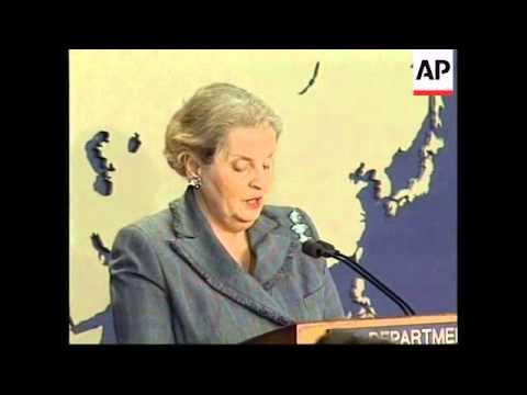 USA: MADELEINE ALBRIGHT CUBA PRESS CONFERENCE