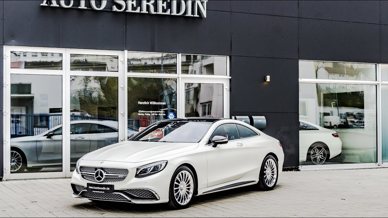 Mercedes-AMG S 65 Coupe KASCHMIRWEISS MAGNO + RED INTERIOR by Auto ...