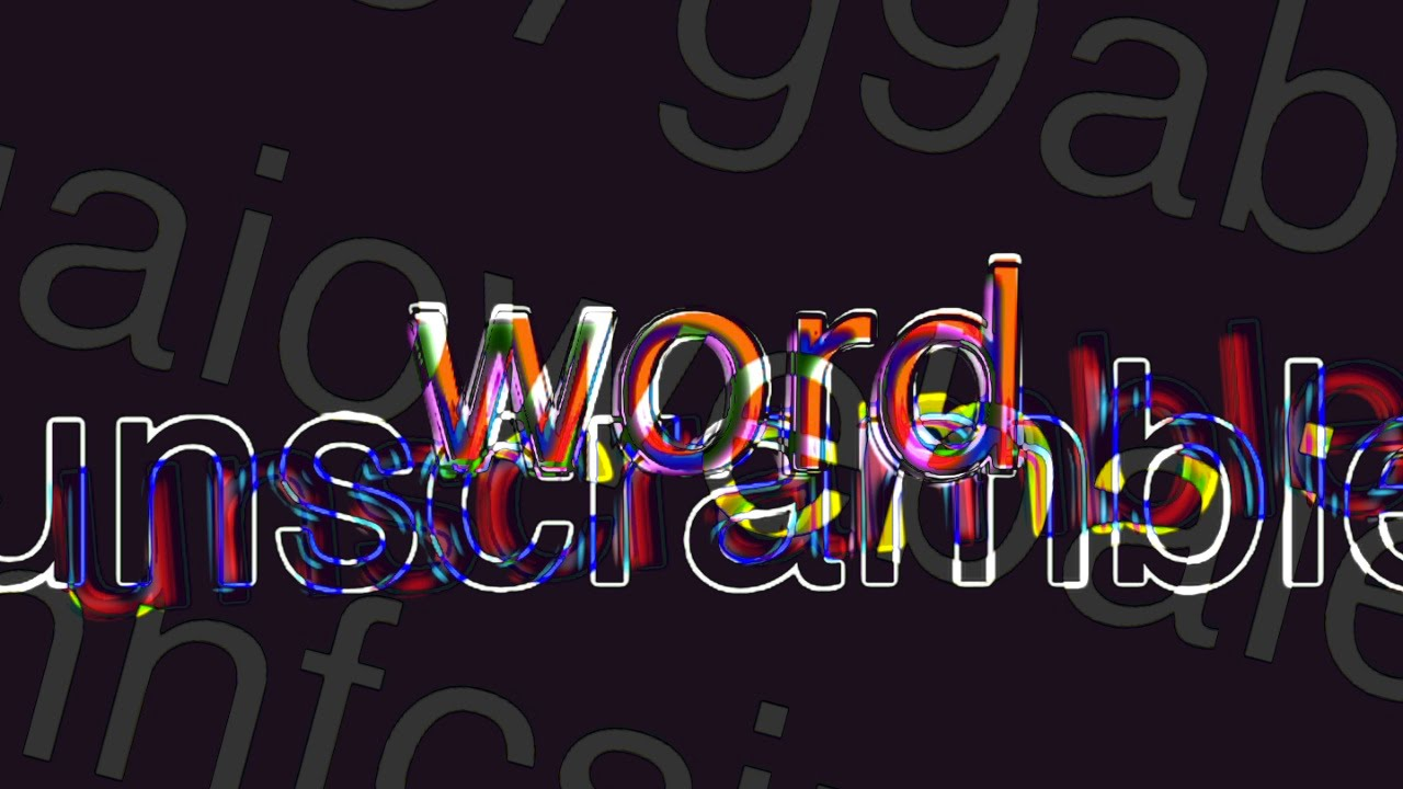 word unscramble 3