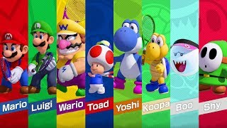 Mario Tennis Aces - All Characters & Costumes (DLC Included)