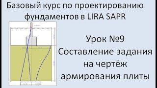 Базовый курс по проектированию фундаментов в Lira Sapr Урок 9