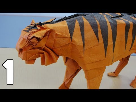 origami tiger tutorial (satoshi kamiya) part 1 3 youtube Origami Husky Diagram