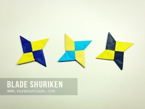 How To Make A Traditional Origami Shuriken Ninja Star Youtube
