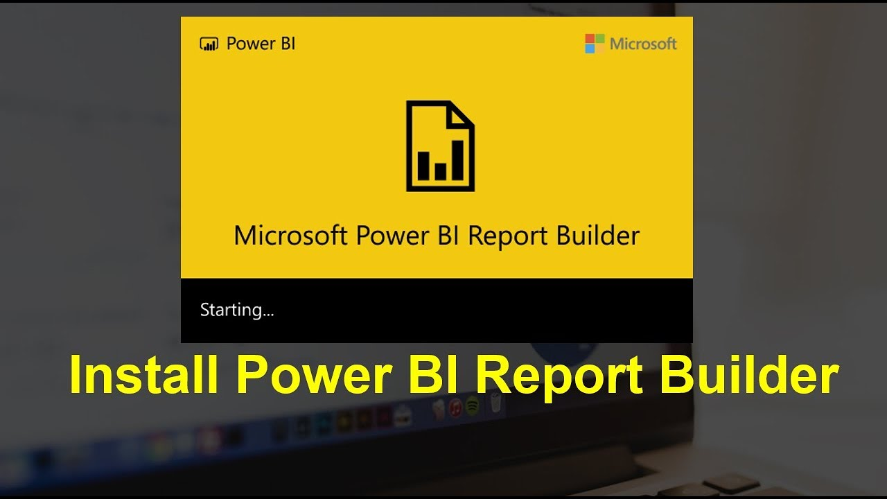 Install Power BI Paginated Report Builder