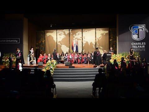 Charles Telfair Institute honore les nouveaux diplômés de Curtin