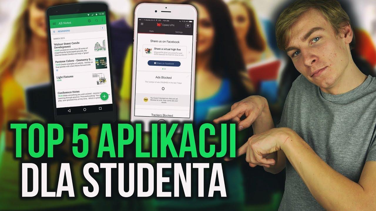 TOP 5 aplikacji dla studenta [IOS/ANDROID]! #Backtoschool