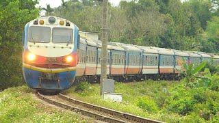 TRAINS IN VIETNAM 2020 - Đoàn tàu hỏa đi giữa mùa xuân thật đẹp - Train. Tàu lửa. Beauty train