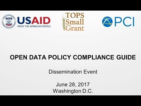 Interpreting and Complying with USAID's Open Data Policy