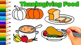 How To Draw Thanksgiving Food - How To Draw Thanksgiving Things - How To Draw Thanksgiving Dinner