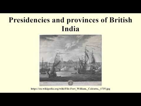 Presidencies and provinces of British India